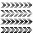arrow strip black symbols vector image vector image