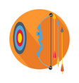 arrow with target icon button archery sign symbol vector image vector image