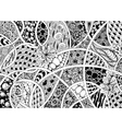 black and white abstraction vector image vector image