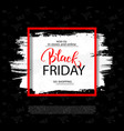 black friday sale background with frame and brush vector image vector image