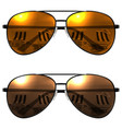 black sunglasses on a white background beach vector image vector image