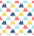 boat seamless pattern vector image vector image