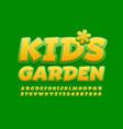 bright logo kids garden funny font vector image