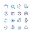 business concepts - set line design style icons vector image vector image