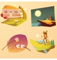 Camping And Hiking Cartoon Set vector image vector image