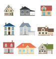 cartoon houses exterior set vector image vector image