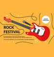 cartoon rock musical festival instrument vector image vector image