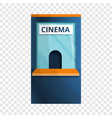 cinema ticket kiosk icon cartoon style vector image