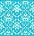 classic damask wallpaper or fabric print pattern vector image vector image