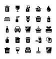 cleaning solid icons 1 vector image vector image