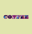 coffee concept word art vector image