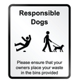 Comical responsible dogs Information Sign vector image vector image