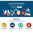 coronavirus prevention website design vector image