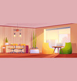 coworking or home office interior room for working vector image vector image