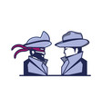 cyber security agent with pirate man vector image vector image