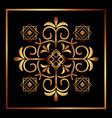 decorative swirl frame luxury golden flourishes vector image vector image