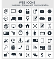 Different business finance and communication icons vector image vector image