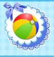 doily ball vector image vector image
