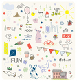 DOODLES CUTE PATTERN vector image vector image