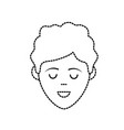 dotted shape avatar man face with haistyle design vector image