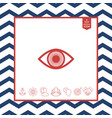 eye symbol icon with iris vector image vector image