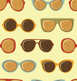 Fashion sunglasses pattern vector image vector image