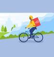 food delivery bike vector image