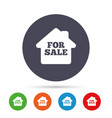 for sale sign icon real estate selling vector image