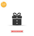 gift box icon simple flat style vector image vector image