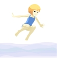 girl jumping in ater vector image vector image