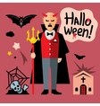 Halloween devil Cartoon vector image
