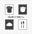 hand drawn silhouettes restaurant posters vector image vector image