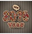 Happy New Year 2016 Decorative hand drawn vector image vector image