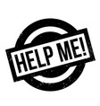 help me rubber stamp vector image vector image