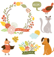 holiday graphic elements collection vector image vector image