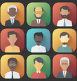 Icons Set of Persons Male Different Ethnic vector image