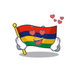 in love flag mauritius kept in mascot cupboard vector image vector image
