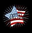 Independence Day of America Emblem Star and flag vector image vector image