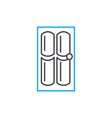 internal door linear icon concept internal door vector image