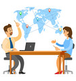 international business communication at meeting vector image