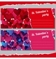 Invitations for Valentines days party vector image