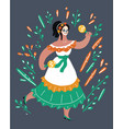 lady with makeup of sugar skull day of the dead vector image
