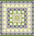 lilac and yellow colored handkerchief vector image