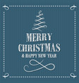 merry christmas and happy new year sribble vector image vector image