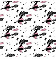 pink and black abstract seamless pattern vector image