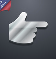 pointing hand icon symbol 3D style Trendy modern vector image