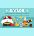 sailor concept banner flat style vector image