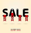 sale ribbon tag 2013 vector image