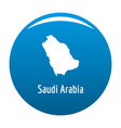 saudi arabia map in black simple vector image vector image