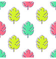 seamless pattern with monstera palm leaves trendy vector image vector image
